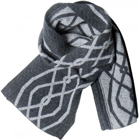 pringle of scotland wool and knit scarf in gray