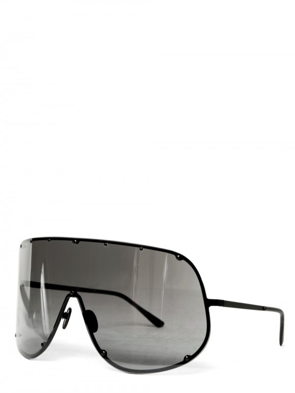 3e44382eeb9 Lyst - Rick Owens Steel Wide Sunglasses in Gray for Men