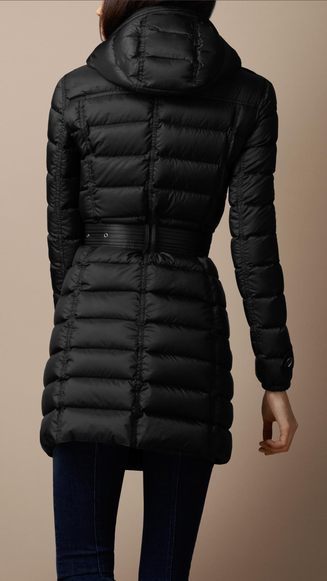 Lyst Burberry Brit Quilted Trench Coat In Black