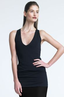 Donna Karan New York Sleeveless Jersey Top - Lyst