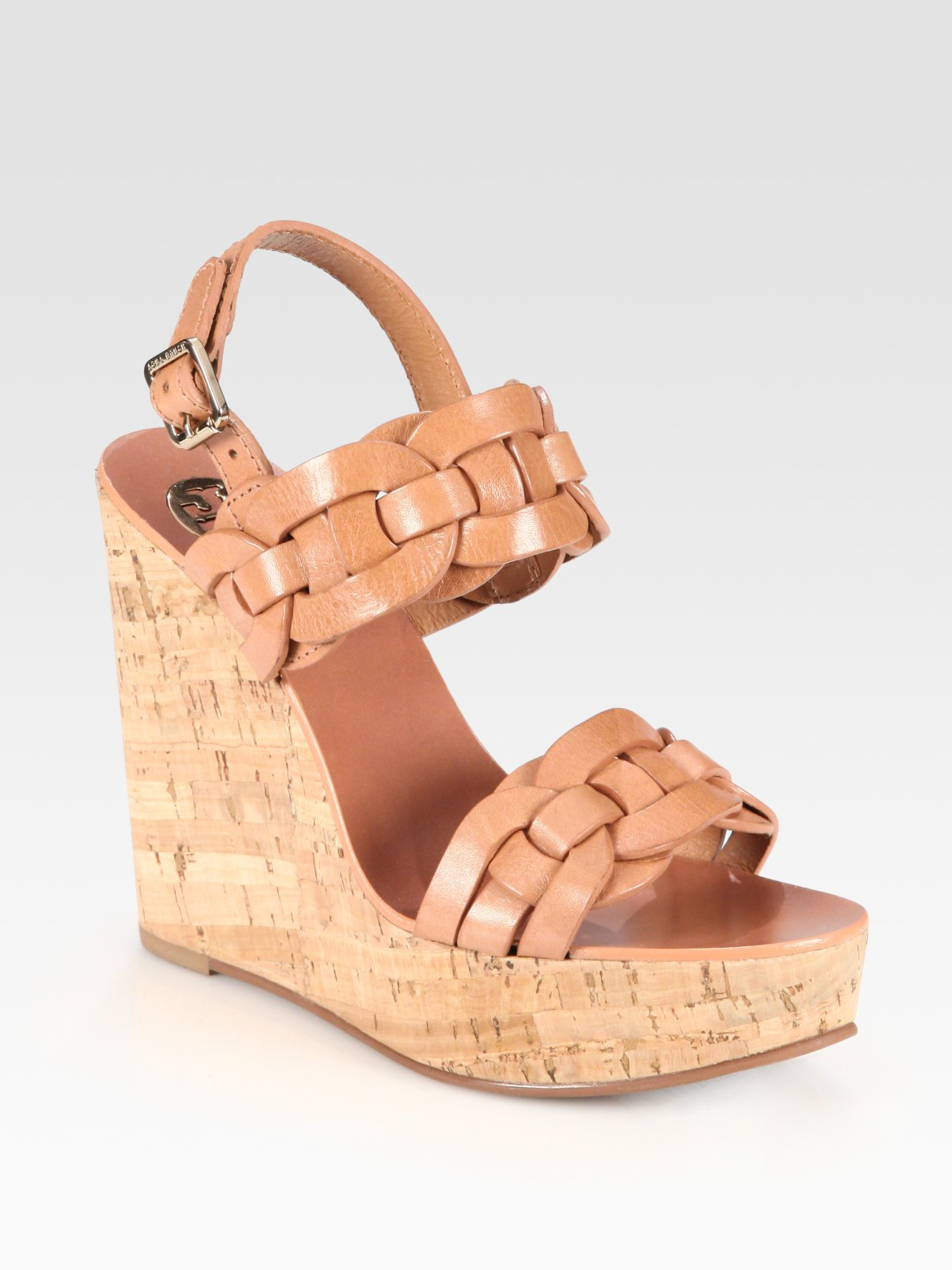 amazon footaction great deals cheap price Tory Burch Suede Slingback Wedges discount pick a best clearance supply 0mchVsd
