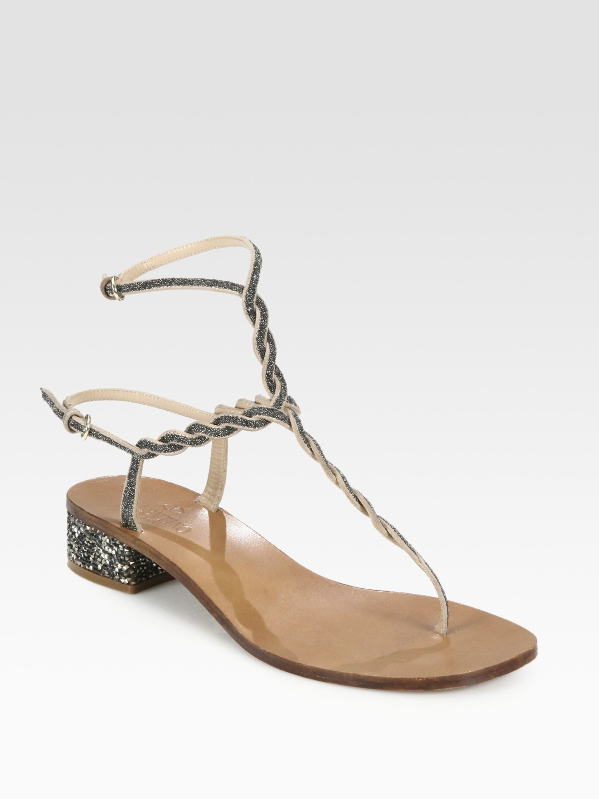 Valentino Embellished Thong Sandals get authentic cheap online cheap sale 2014 new kZlzM