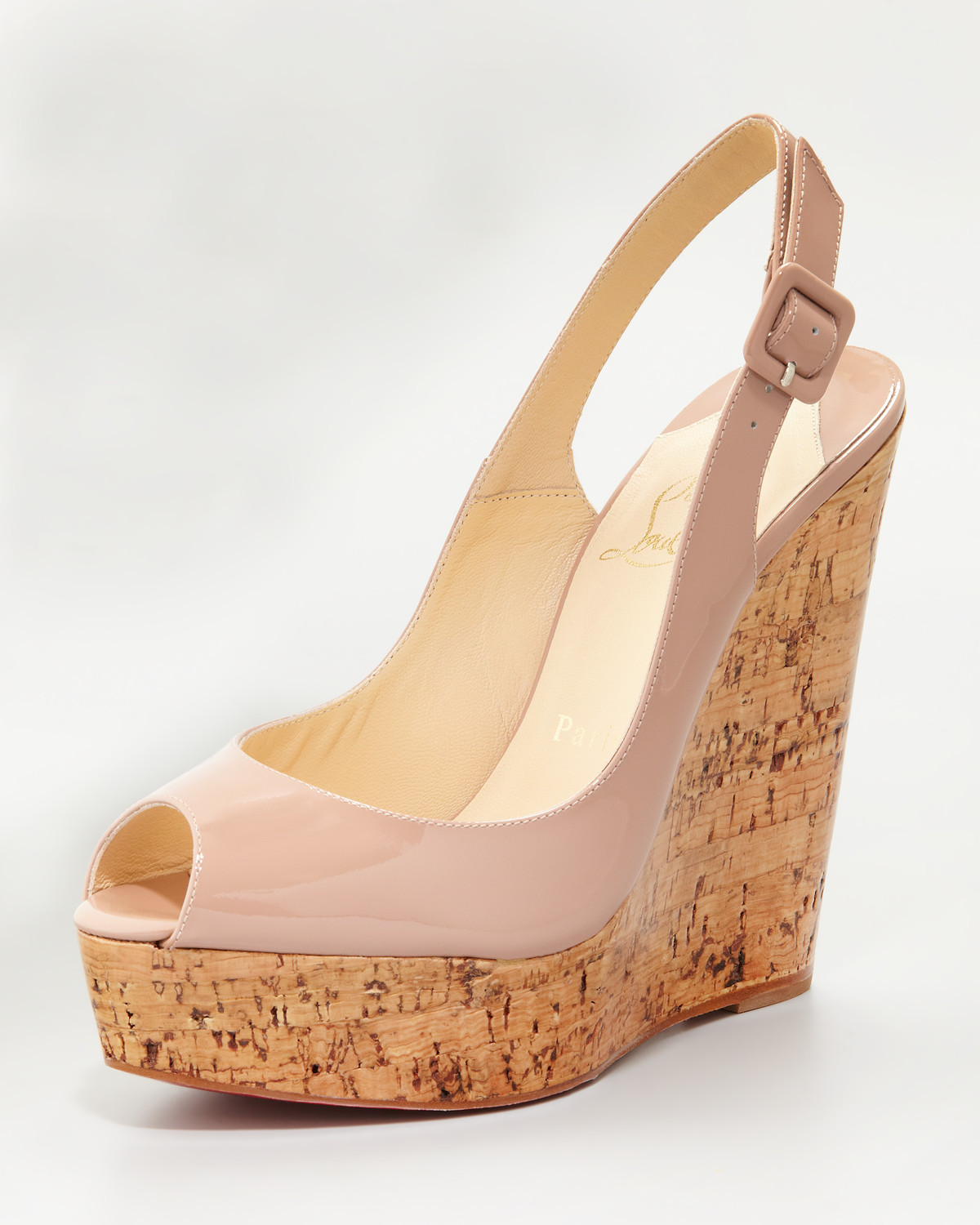 low priced f2c8d 2bf45 Women's Natural Une Plume Slingback Cork Platform, Nude