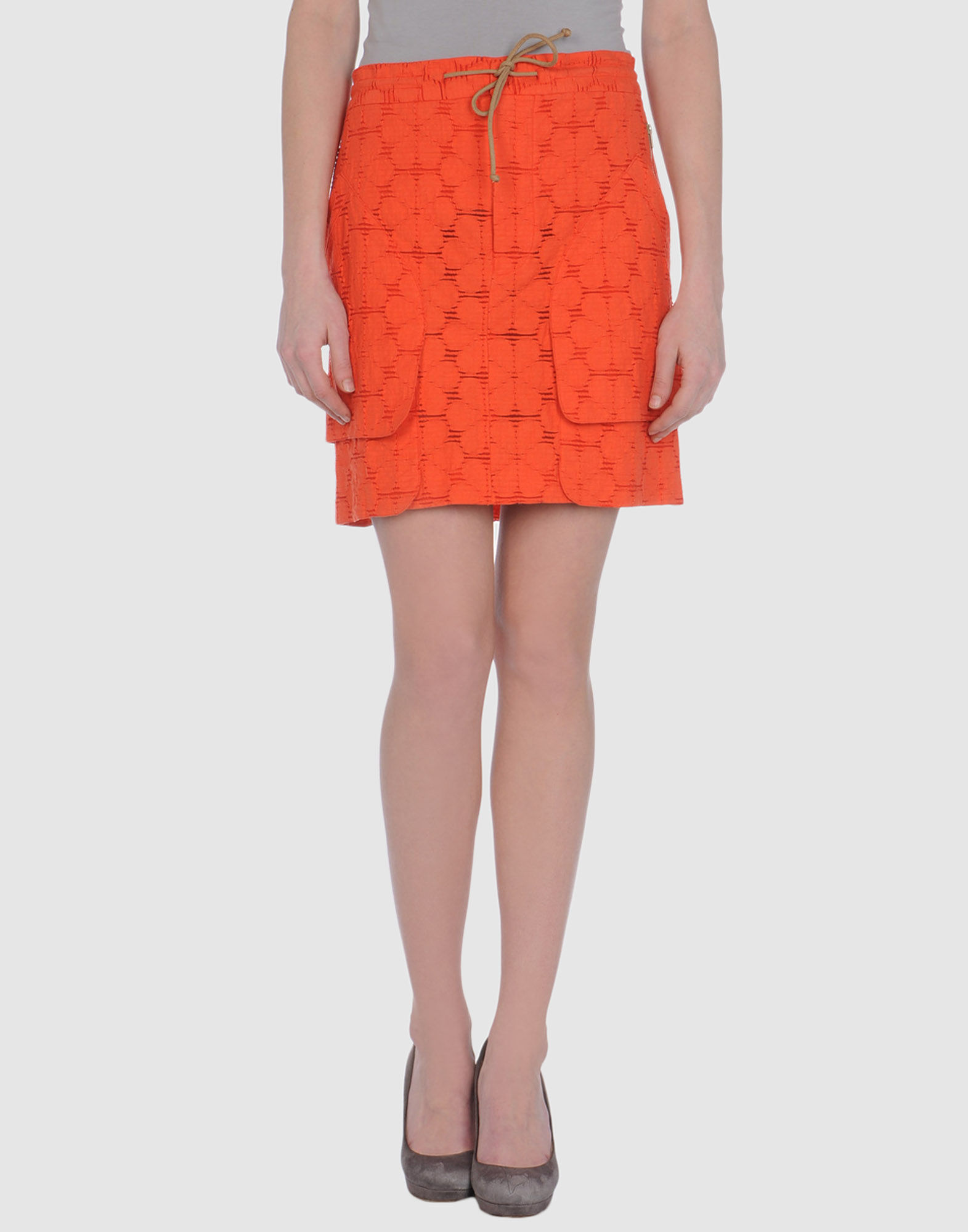 marni knee length skirt in pink coral lyst