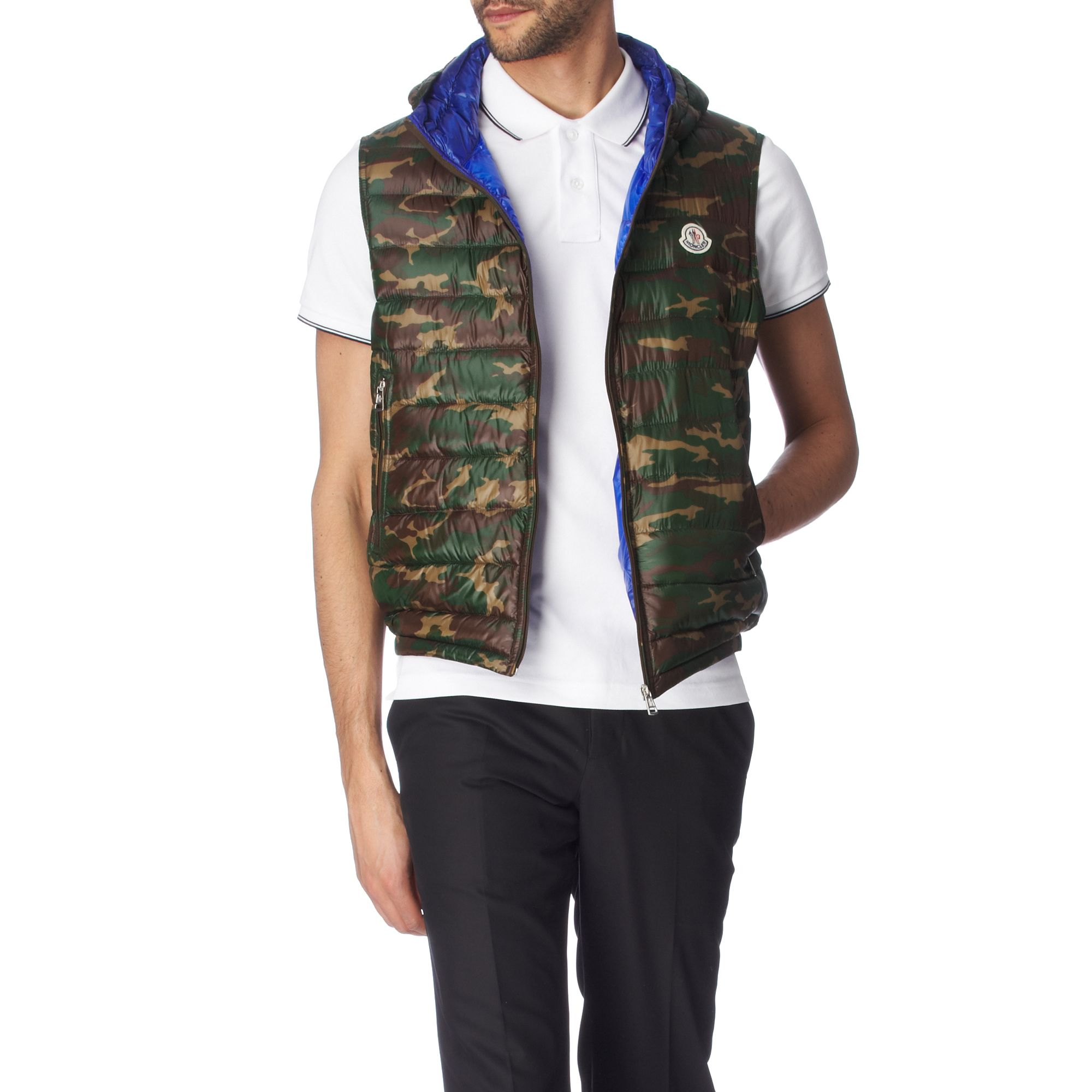 moncler camouflage gilet