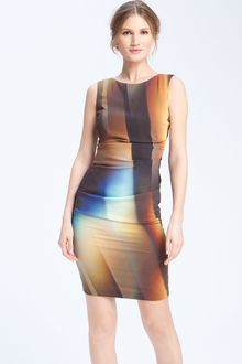 Nicole Miller Refracted Light Silk Blend Sheath Dress - Lyst