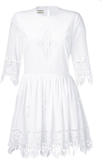 By Malene Birger White Cotton Romantic Dress - Lyst