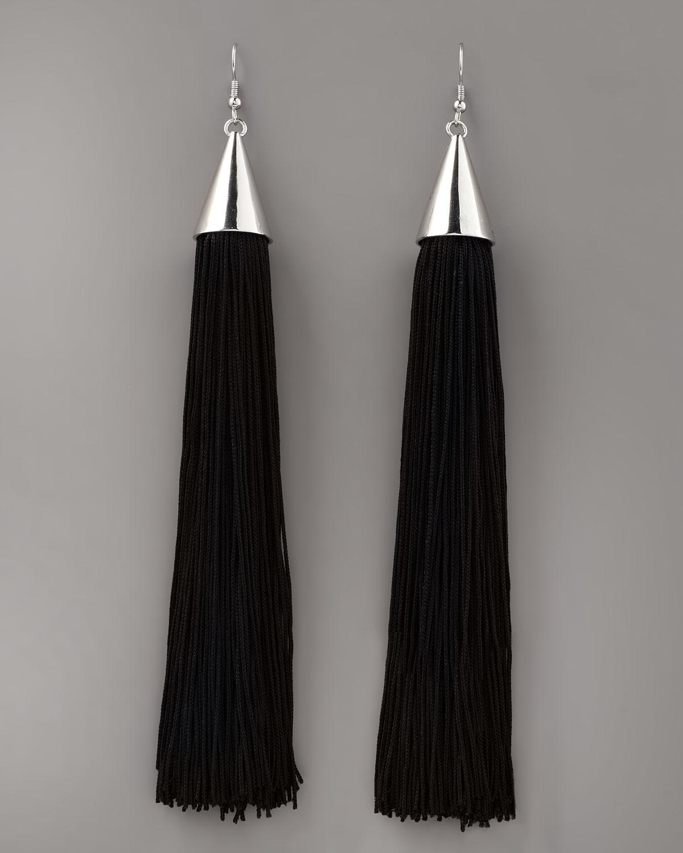 long tassel earrings - Black Eddie Borgo 0zOmLZp1G