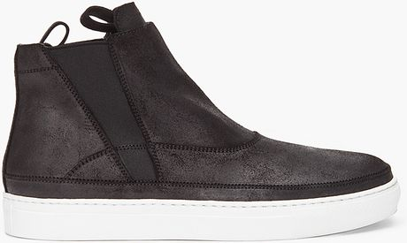 Kris Van Assche Black Leather Sneakers in Black for Men - Lyst