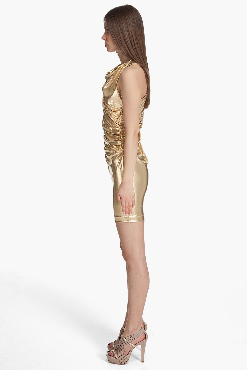 Robert Rodriguez Liquid Gold Dress In Metallic Lyst