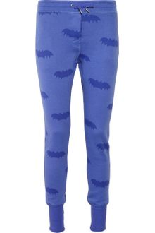 Zoe Karssen Bat-print Cotton-blend Fleece Track Pants - Lyst