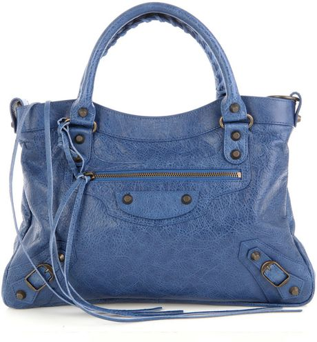 Balenciaga Classic Town Messenger Bag in Blue (cobalt)