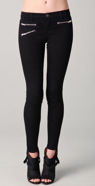 J Brand Zoey Mid-rise Skinny Jeans in Black