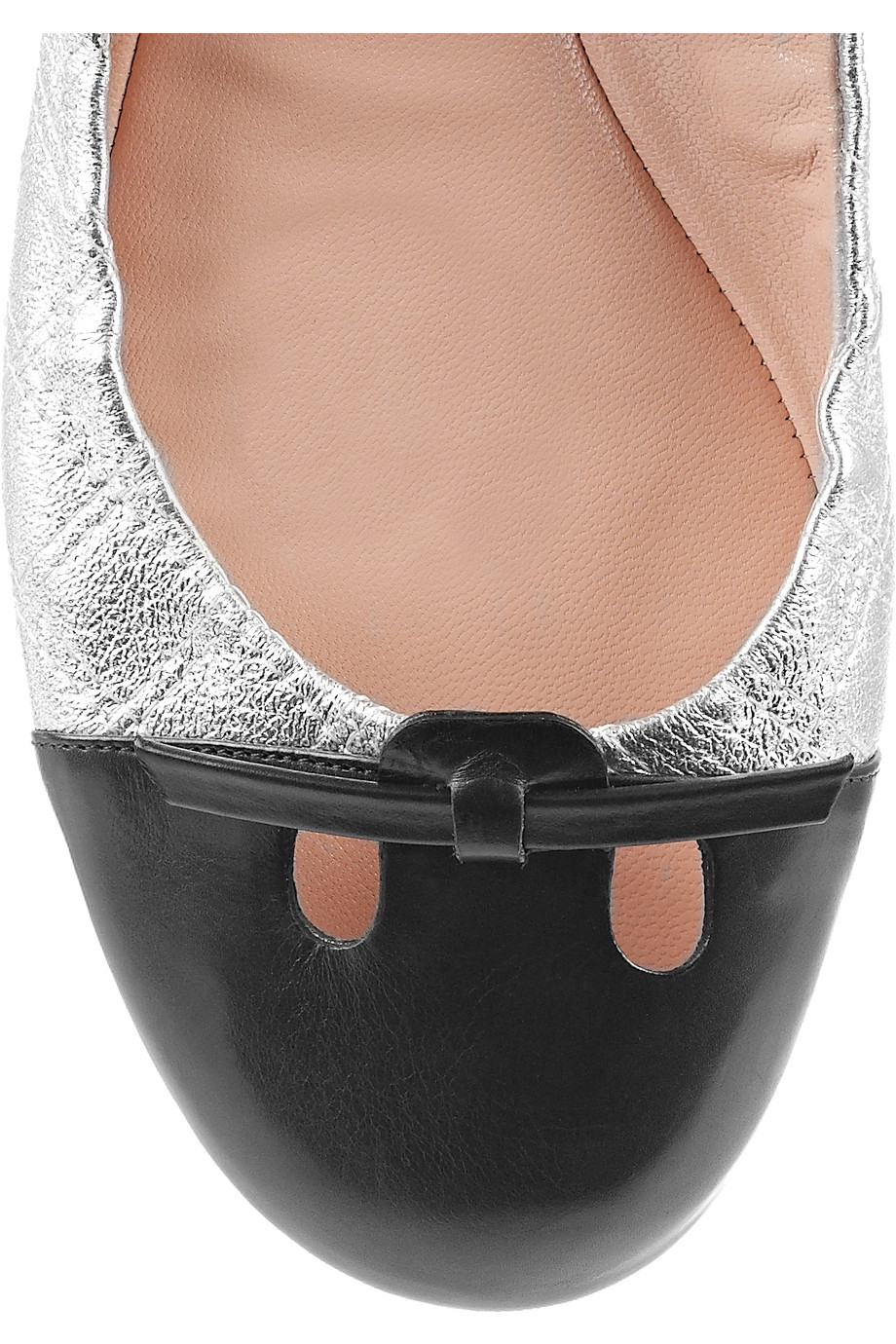 Lyst Marc Jacobs Quilted Patent Leather Ballerina Flats