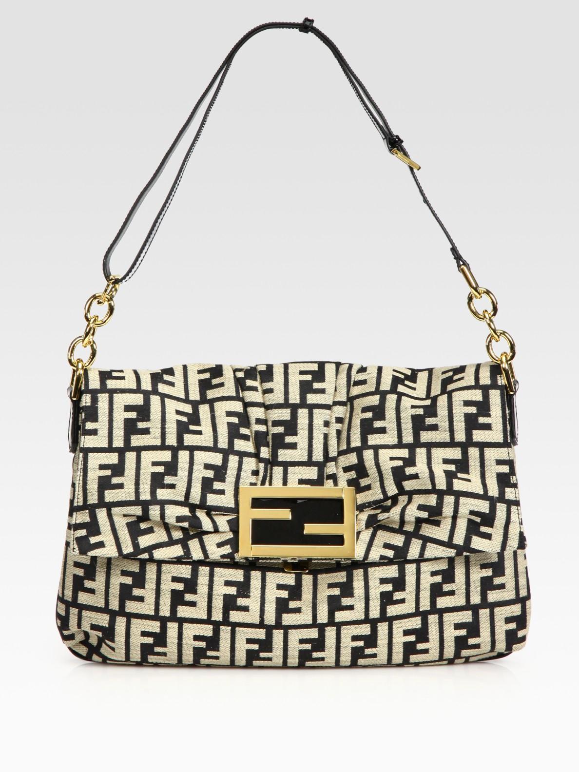 Fendi Borsa Mia Zucca Canvas Shoulder Bag 59