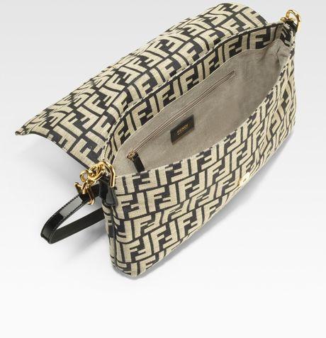 Fendi Borsa Mia Zucca Canvas Shoulder Bag 105