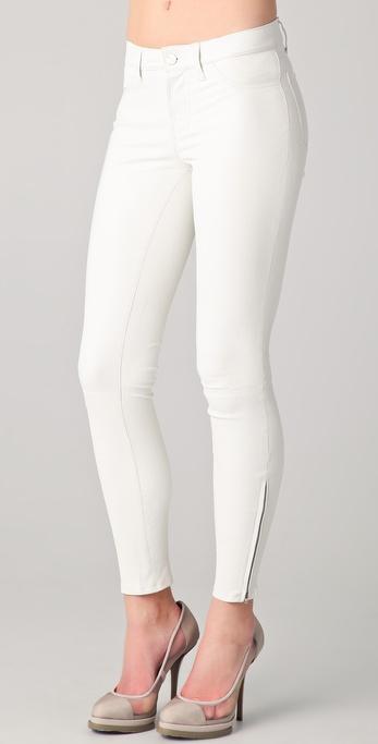 pennyblack_Lyst - J Brand Super Skinny Leather Pants in White