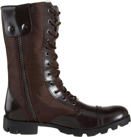 Jump Mens Stone Side Zip Boot In Brown For Men Lyst