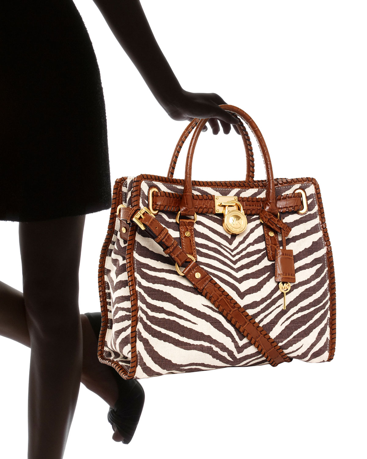 6817c897cf67ac Michael Kors Hamilton Large Whipped North South Tote, Tiger-print - Lyst