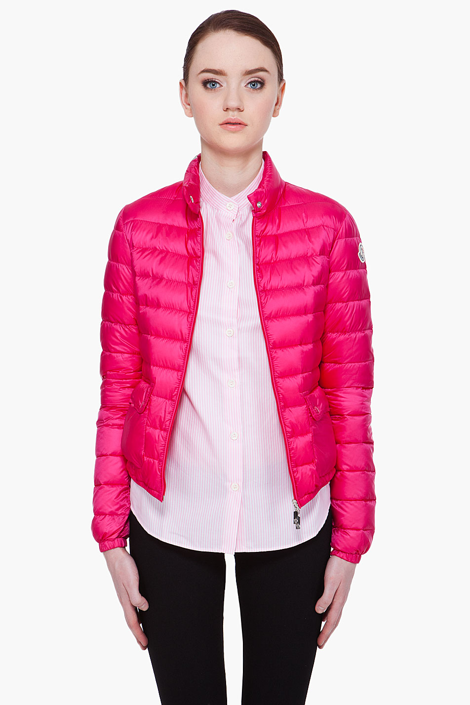 Lyst Moncler Puff Jacket In Pink