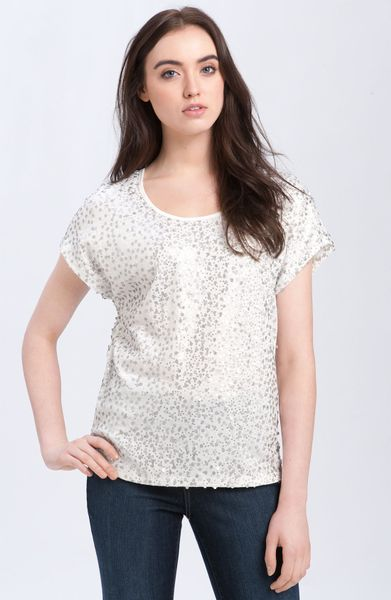 Pleione Sequin Tee in White (ivory)