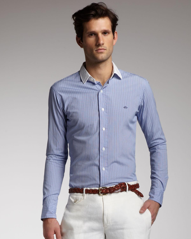 Polo ralph lauren Button Down Collar Gingham Shirt in Blue for Men ...