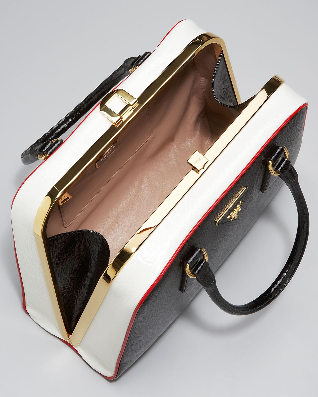 ccb9be161b42 Prada Pyramid Frame Bag in Black - Lyst