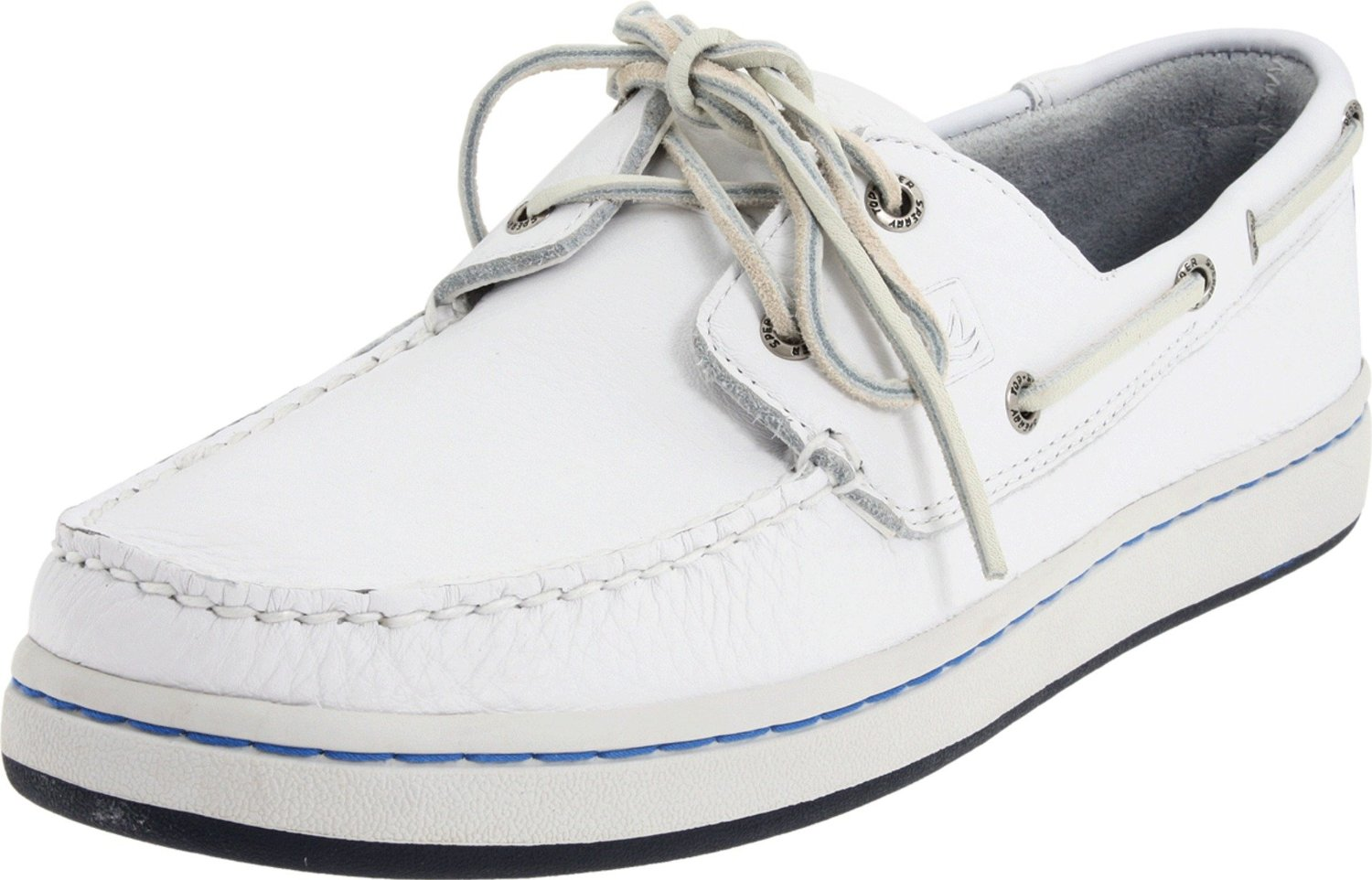 sperry top sider mens sperry cup boat shoe in white for