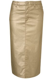 Topshop Metallic Pencil Skirt - Lyst