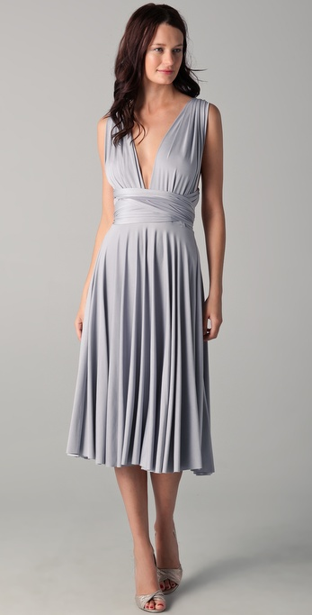 Twobirds Tea Length Convertible Dress In Gray Lyst