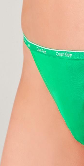 01a0755c155 Calvin Klein Ck One Micro G-String in Green - Lyst