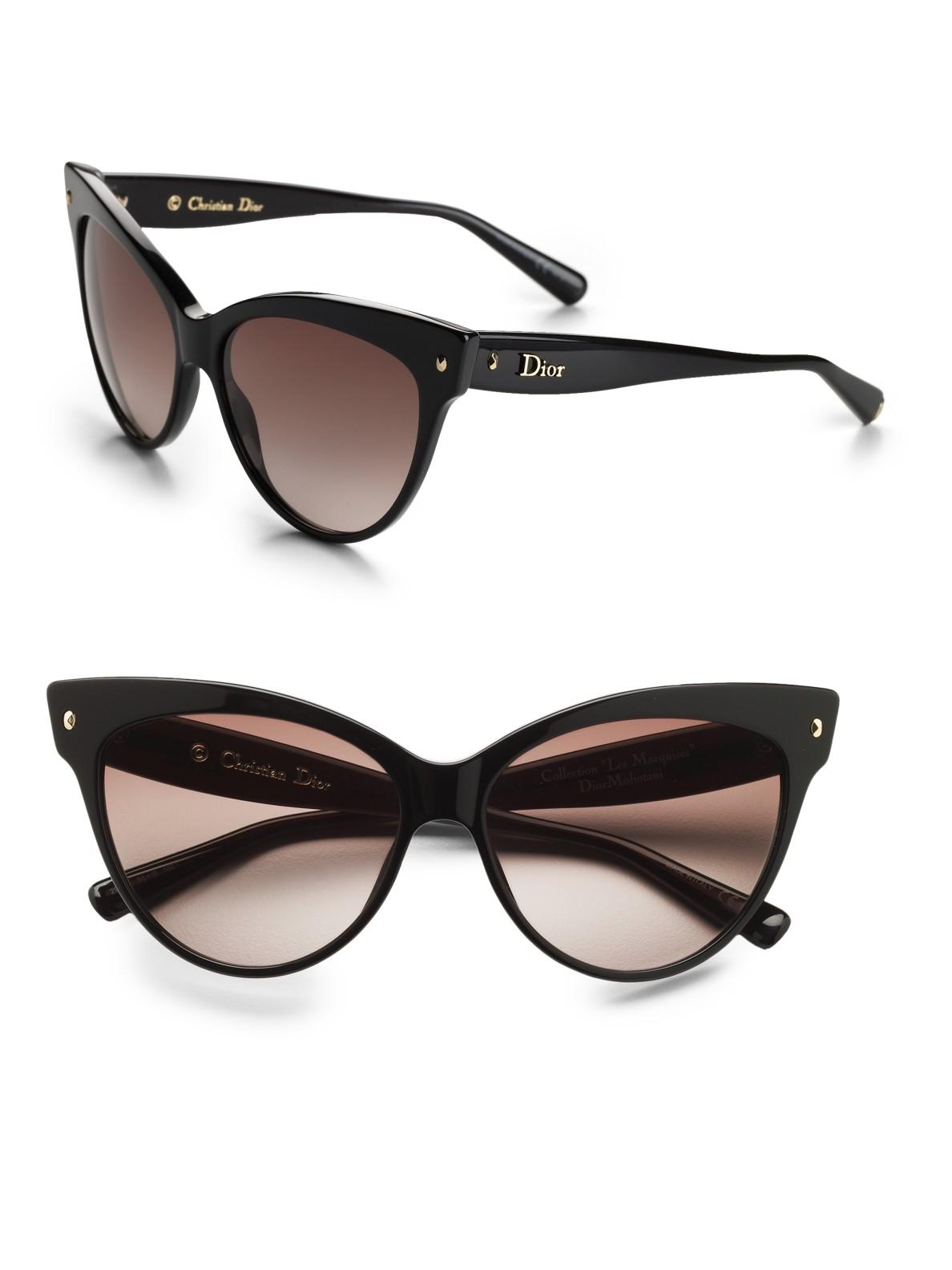 Dior Cateye Sunglasses in Black - Lyst