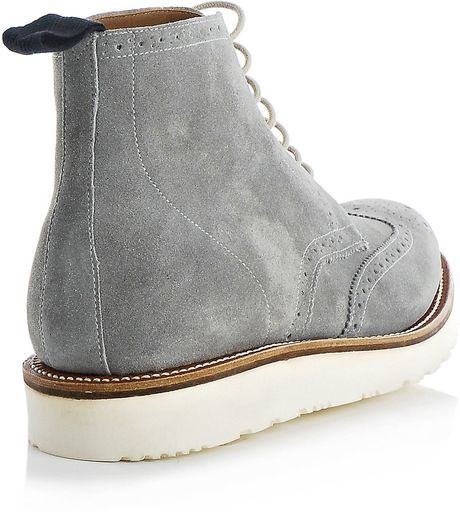 Grenson Lewis Suede Boots In Gray For Men Grey Lyst
