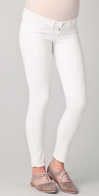 J brand Skinny Maternity Jeans in White | Lyst