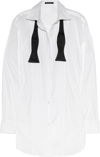 Kiki De Montparnasse Fantasy Collection Cotton-voile Tuxedo Shirt - Lyst