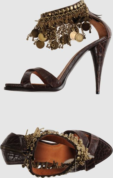 Givenchy High Heeled Sandals in Brown