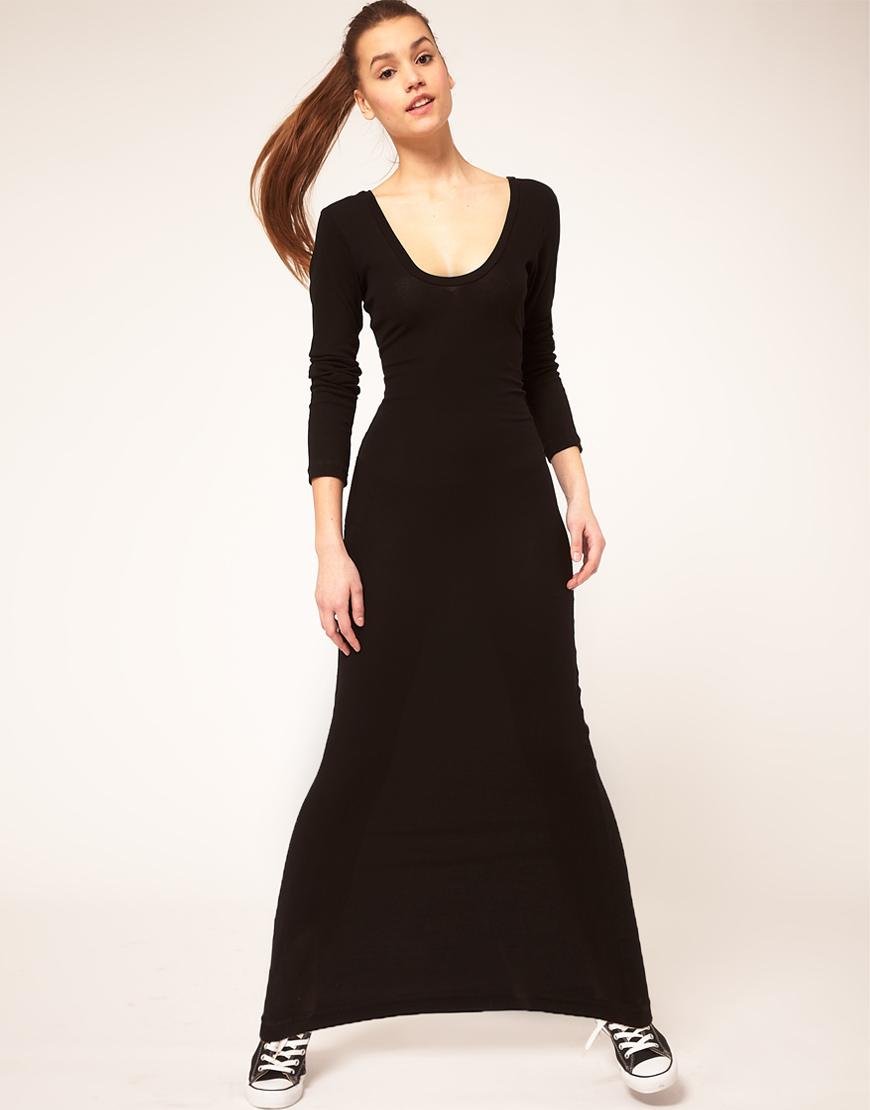 Long sleeved evening dresses maxi