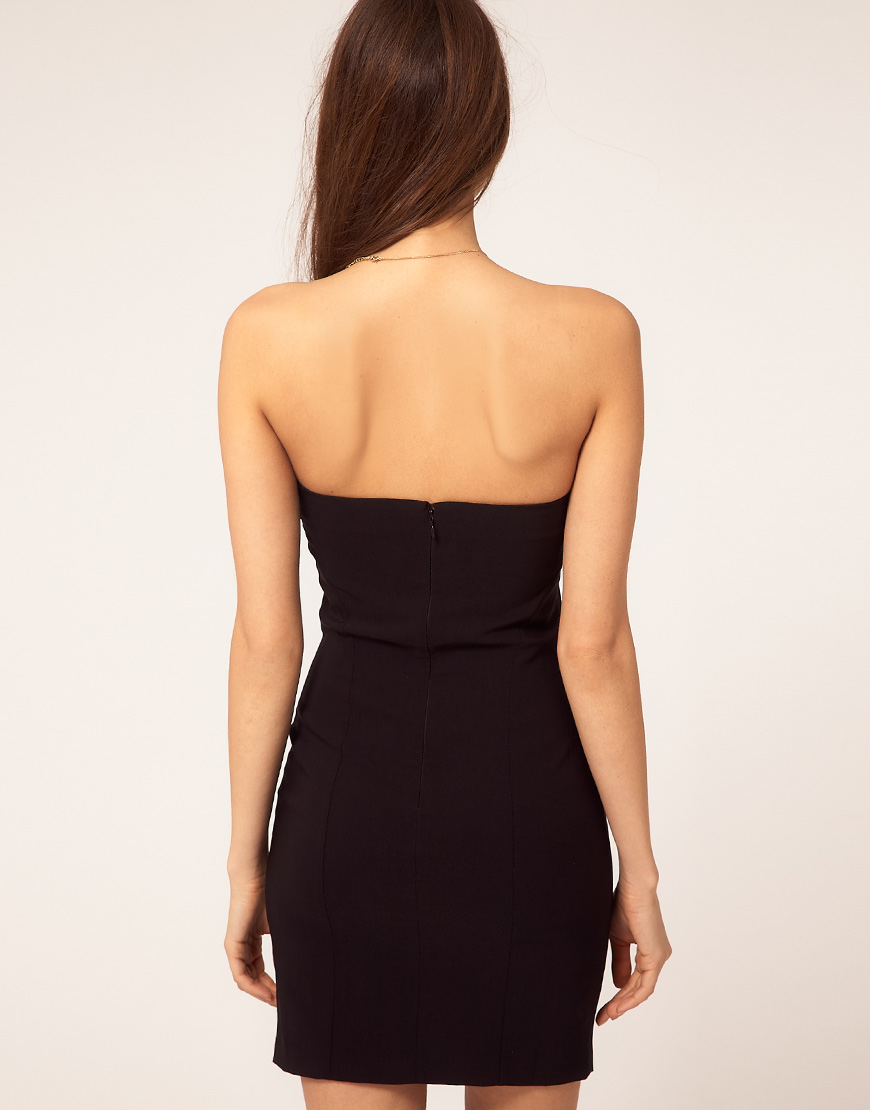 Asos Collection Asos Sexy Strapless Dress In Black Lyst