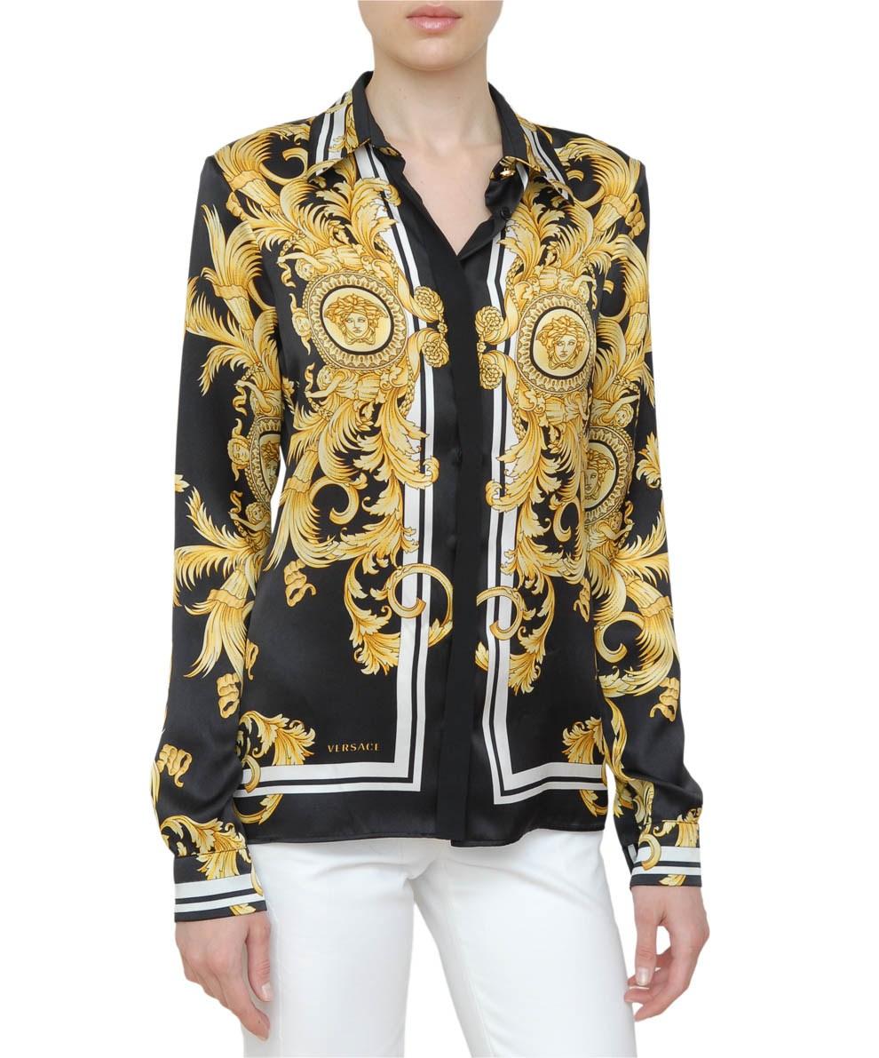 Vintage Versace Blouse Silk