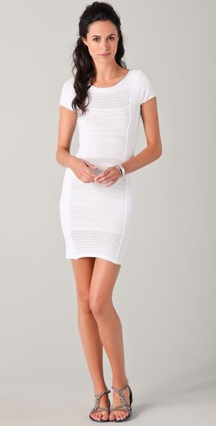 Bcbgmaxazria Leena Dress in White