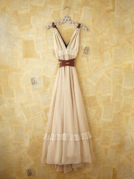 Free People Vintage Gunne Sax Dress in White
