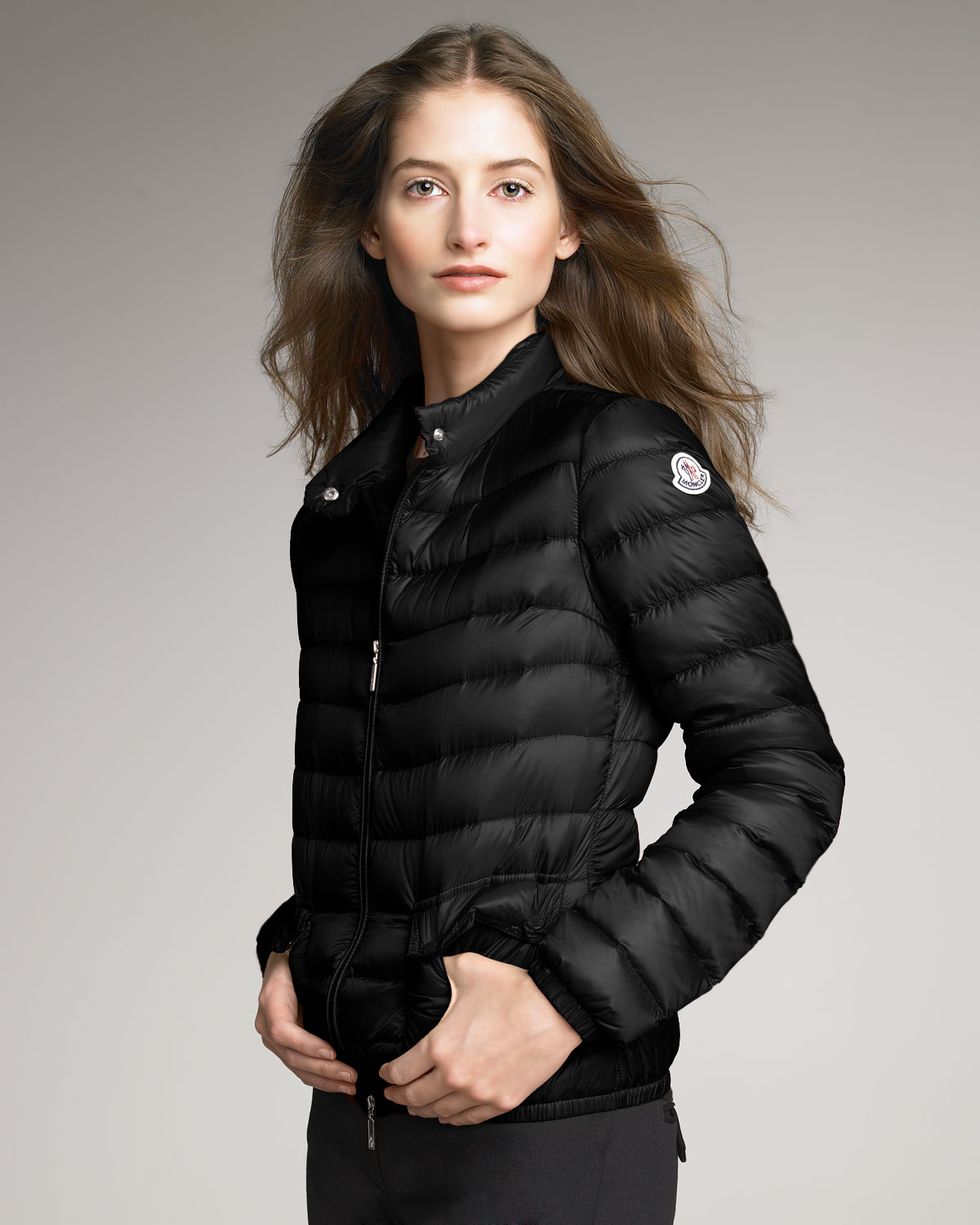 Moncler Lightweight Puffer Jacket, Black in Black | Lyst