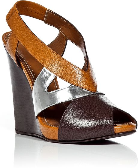 proenza schouler chocolate and wedge sandals in