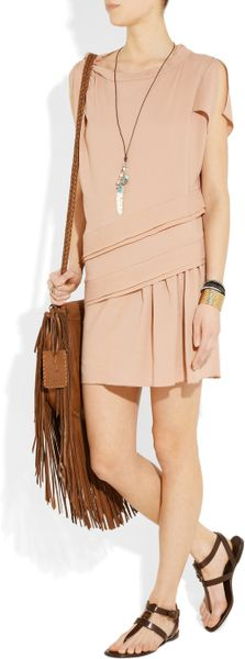 Burberry Leather T Bar Sandals In Brown Lyst