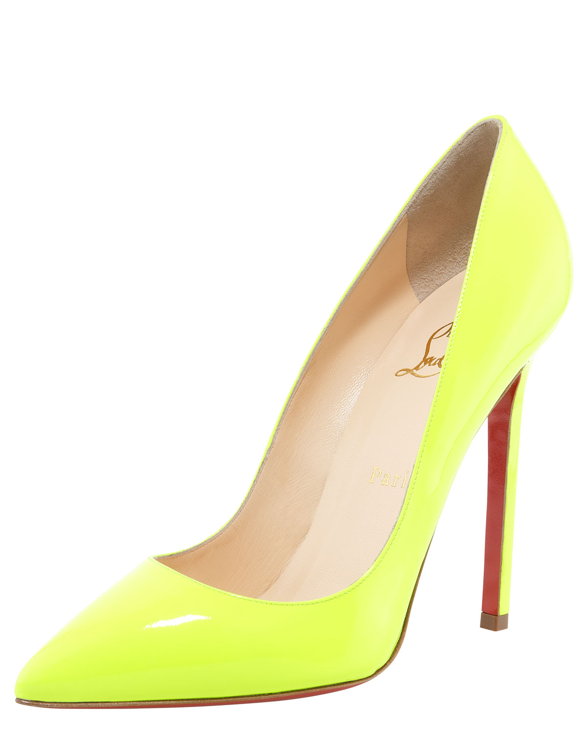 7b14f15f17f Lyst - Christian Louboutin Pigalle Neon Pump in Yellow