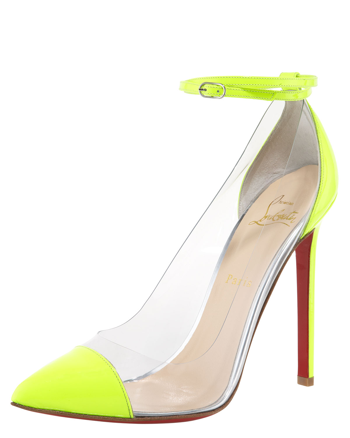christian louboutin neon unbout illusion pump