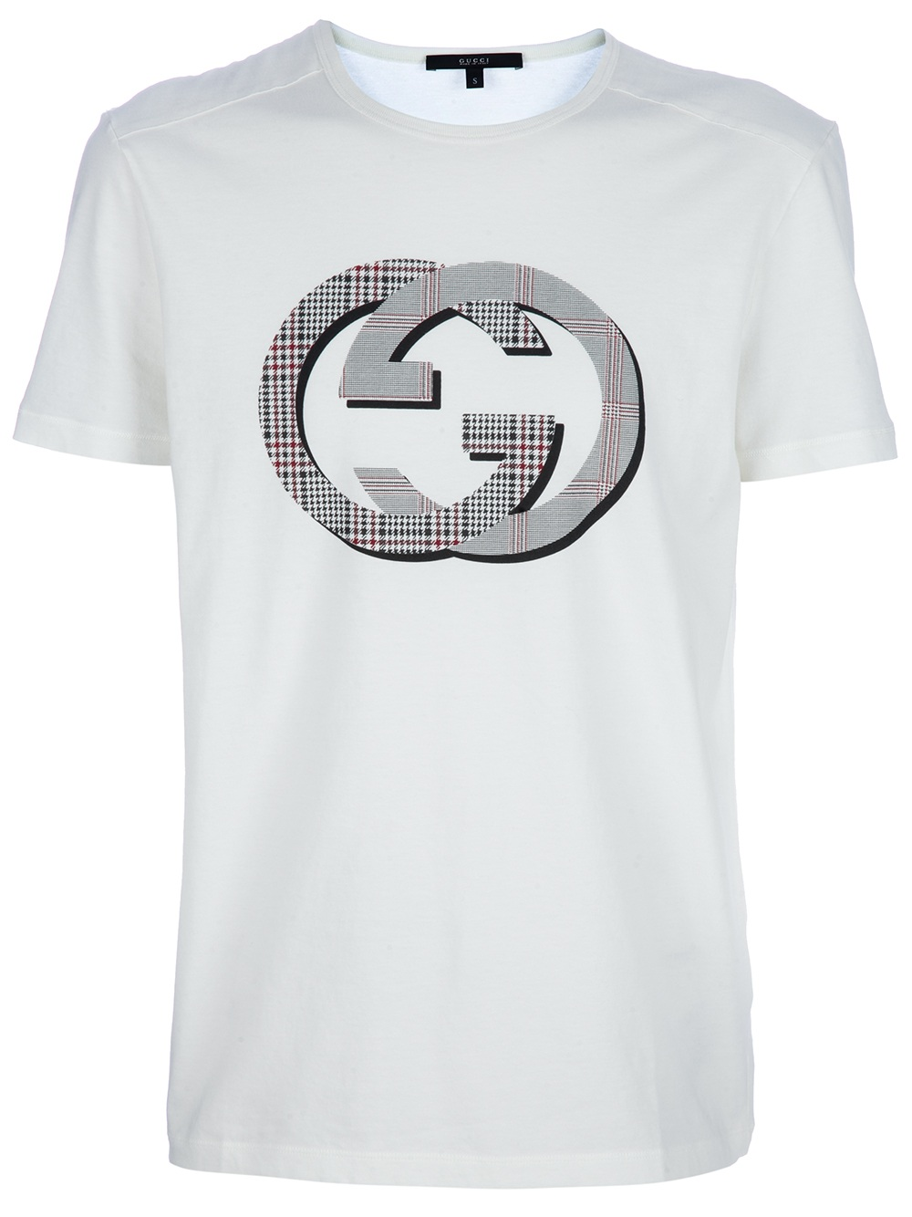 gucci printed t shirt in white for men lyst. Black Bedroom Furniture Sets. Home Design Ideas