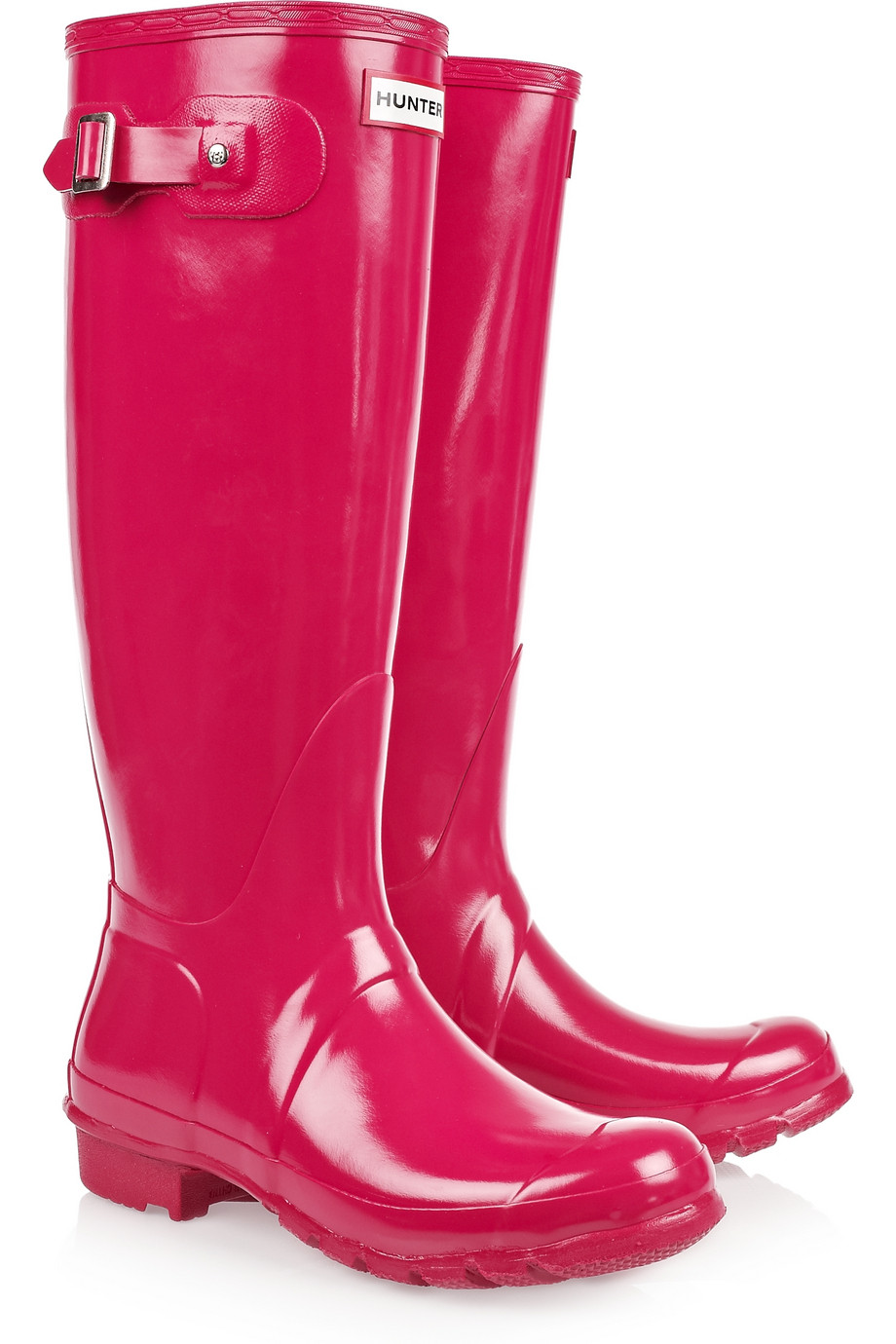 Hunter Original Tall Wellington Boots in Red (raspberry ...