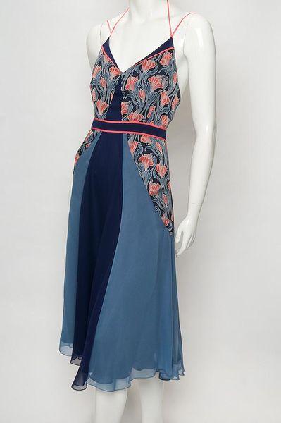 Jason Wu Print Chiffon Halter Dress In Blue Floral Lyst