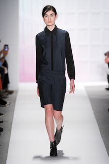 Tibi Fall 2012 Formal Dark Grey Shorts - Lyst